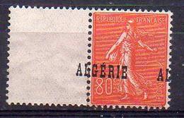 Algérie Semeuse N° 27 Neuf * (Légères Adhérences) - Variété 'Surcharge à Cheval' - Ungebraucht
