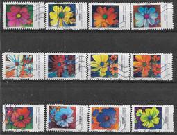 2020 FRANCE Adhesif 1851-62 Oblitérés, Fleurs Cosmos, Série Complète - Adhésifs (autocollants)