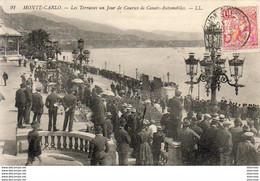MONACO MONTE CARLO Les Terrasses Un Jour De Courses De Canots Automobiles - Monte-Carlo