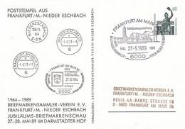 PP 152 D2/9 Poststempel Aus Frankfurt/M.- Nieder Eschbach -1964-1989 Briefmarkensammler-Verein E.V., Frankfurt Am Main - Cartoline Private - Usati