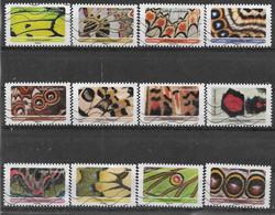 2020 FRANCE Adhesif 1801-12 Oblitérés, Papillons, Série Complète - KlebeBriefmarken