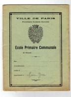 CAHIER ILLUSTRE De MAIRE Yvan De L'ècole Primaire Communale De La Ville De PARIS En 1937 - Kids