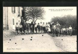 CPA Chablis, Jeux De Boules De La Colonie De Vacances - Chablis