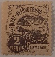 Germany Deutsche Reich Privatpost/Stadtpost Darmstadt 1897 - Sello Particular