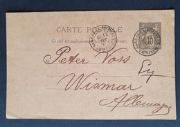 Frankreich 1890, Private Postkarte P10 LA ROCHELLE  Gelaufen Wismar - Zonder Classificatie