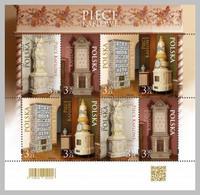 2020 Poland Historical Rocococo Tiled Stove  Full Mini Sheet New! MNH** - Ongebruikt
