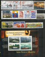 SPM. Année 2007,  12 Timbres Neufs ** Inclus B-F,  Bonne Qualité.  Cote 57 Euro. - Unused Stamps