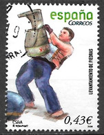 Spain 2008. Scott #3571 (U) Stone Carrying (Levantamiento De Piedras) - 2001-10 Afgestempeld