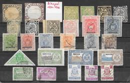 Etats Princiers De L'Inde - Bhopal Lot De 27 TP 1890-1946 (*) & O - Bhopal