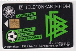 TK 30385 GERMANY - Chip K918 04.92 20.000 DPR DFB - Fussball-Europa-Meisterschaft Schweden - K-Series : Serie Clientes