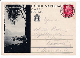 Italia 1935 Intero Postale Propaganda Turistica Malcesine Pre Saint Didier Aosta - Postwaardestukken