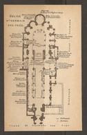 CARTE PLAN 1924 ARCHITECTURE - PARIS ÉGLISE SAINT GERMAIN Des PRÉS - TABLEAUX STATUES - CHURCH - Topographische Kaarten