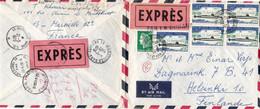 5 X 0,70 Sous-marin Nucléaire Le Redoutable 0,40 Cheffer Lettre Par Exprès Marseille Pr La Finlande Visée Par La Douane - Postal Rates