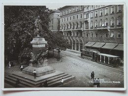 Italy 10284 Friuli-Venezia Giulia Trieste 1938 Monumento A Domenico Rossetti Monument Tram Tramway - Trieste