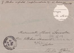 France Lettre Avec Trou Franchise Militaire Hopital Complémntaire N°53 Marseille 1916 Pour Salon - 1. Weltkrieg 1914-1918