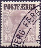 DENEMARKEN 1919 15öre Postfaerge Christian X GB-USED - Gebraucht
