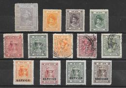 Etats Princiers De L'Inde - Holkar (Indore) Lot De 13 TP 1886-1938 *, (*), O - Holkar
