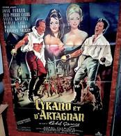 Aff Ciné Orig CYRANO & D'ARTAGNAN ABEL GANCE DUMAS ROSTAND 1963 120x160 Illu Allard - Affiches & Posters