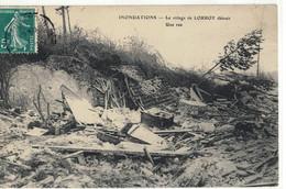 CPA  LORROY  Inondation 1910, Une Rue Du Village Détruite - Altri Comuni