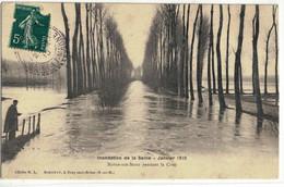 CPA  NOYEN / SEINE   Inondation 1910 , La Crue - Bois Le Roi
