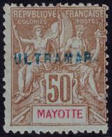 ✔️ Mayotte 1900/1907 - Surcharge ULTRAMAR Pour Les Archives De 'l UPU Dans Lisboa  - Yv. 20 (*) - Rare. 5-10 Connu ! - Nuevos