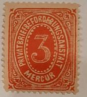 Germany Deutsche Reich Privatpost/Stadtpost Heidelberg Mercur 1886 3 Pf - Sello Particular