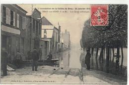 CPA  BRAY / SEINE   Inondation 24 Janvier 1910, Les Quais Submergés  N° 15 - Bray Sur Seine