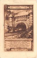 """02186 """"(TO) CINQUANTENARIO TRAFORO CENISIO 1871/1921"""" TRENO.  CART. SPED 1929 - Altre Città"""