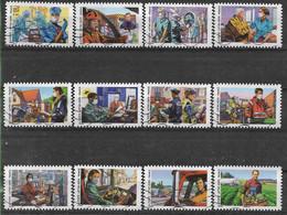 2020 FRANCE Adhesif 1909-20 Oblitérés, Covid, Tous Engagés, Série Complète - KlebeBriefmarken