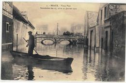 CPA  MEAUX   Inondation 1910 Le Vieux Port  N° 3 - Meaux