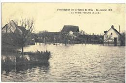 CPA  LE PETIT PEUGNY    Inondation 1910 - Altri Comuni