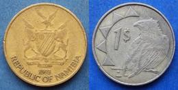"""NAMIBIA - 1 Dollar 1993 """"Bateleur Eagle"""" KM# 4 - Edelweiss Coins - Namibia"""