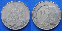 """NAMIBIA - 1 Dollar 1998 """"Bateleur Eagle"""" KM# 4 - Edelweiss Coins - Namibia"""