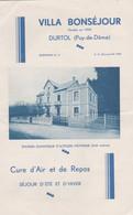 63 DURTOL VILLA BONSEJOUR - Toeristische Brochures