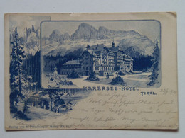 Italy 10268 South Tyrol Carezza Karersee Hotel Tirol 1900 S. Potzelberger Meran Nr. 15 - Zonder Classificatie