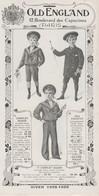 7502 OLD ENGLAND MAGASIN DE VENTE DE VETEMENTS HIVER 1908-1909 12 BOULEVARD DES CAPUCINES - 1900 – 1949