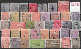 Etats Princiers De L'Inde - Travencore Lot De 32TP 1888-1949 O - Travancore