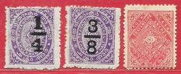 Etats Princiers De L'Inde - Travencore N°9 à/to 11 1906-08 * - Travancore