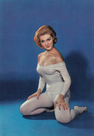 PIN UP Busty Hot Sexy Erotic Red Hair Woman Tricot Bare Feet Postcard 60s - Pin-Ups