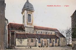 PESMES (Haute-Saône) - L'église - Colorisée. Circulée En 1907. Très Petites Tâches De Rouille. - Pesmes