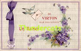 CPA EN RELIEF GAUFREE UN BAISER DE VIRTON - Virton