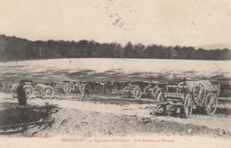 HERICOURT (Haute-Saône) - 4e Régiment D'Artillerie - Une Batterie Au Bivouac. Edition Bergeret. Circulée En 1905. - Other Municipalities