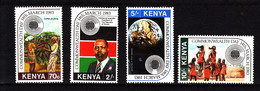 1983  Kenya Commonwealth Day Coffee Satellites Costumes Culture Complete Set Of 4 - Kenia (1963-...)