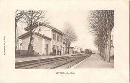 Dépt 70 - SEVEUX - La Gare - (Éditeur : A. Bergeret, Lib.) - Sonstige Gemeinden