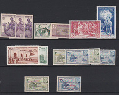 Ou037 MAURITANIE  Lot Timbres N*, N, (O) - Unclassified