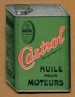"""CARNET PUBLICITAIRE : """" HUILE De MOTEUR CASTROL """"  Bidon D'huile (1932) - Advertising"""