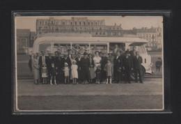 (18/12/20) 76-CPA DIEPPE - CARTE PHOTO - AUTOBUS - DEVANT HOTEL METROPOLE - Dieppe