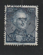 Bundesrepublik Deutschland - 1953 - Mi. 166 Gestempelt (D840) - Usados