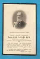 GENEALOGIE FAIRE PART DECES NOBLESSE  BARON DE CHABAUD LA TOUR CANNES   1839 1910 - Avvisi Di Necrologio
