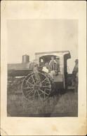 Photo CPA Landwirtschaftliche Dampfmaschine, Traktor, Feldarbeit - Non Classificati